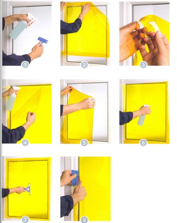 Istruzioni di posa delle pellicole acquamarina da - Applicazione pellicole vetri finestre ...