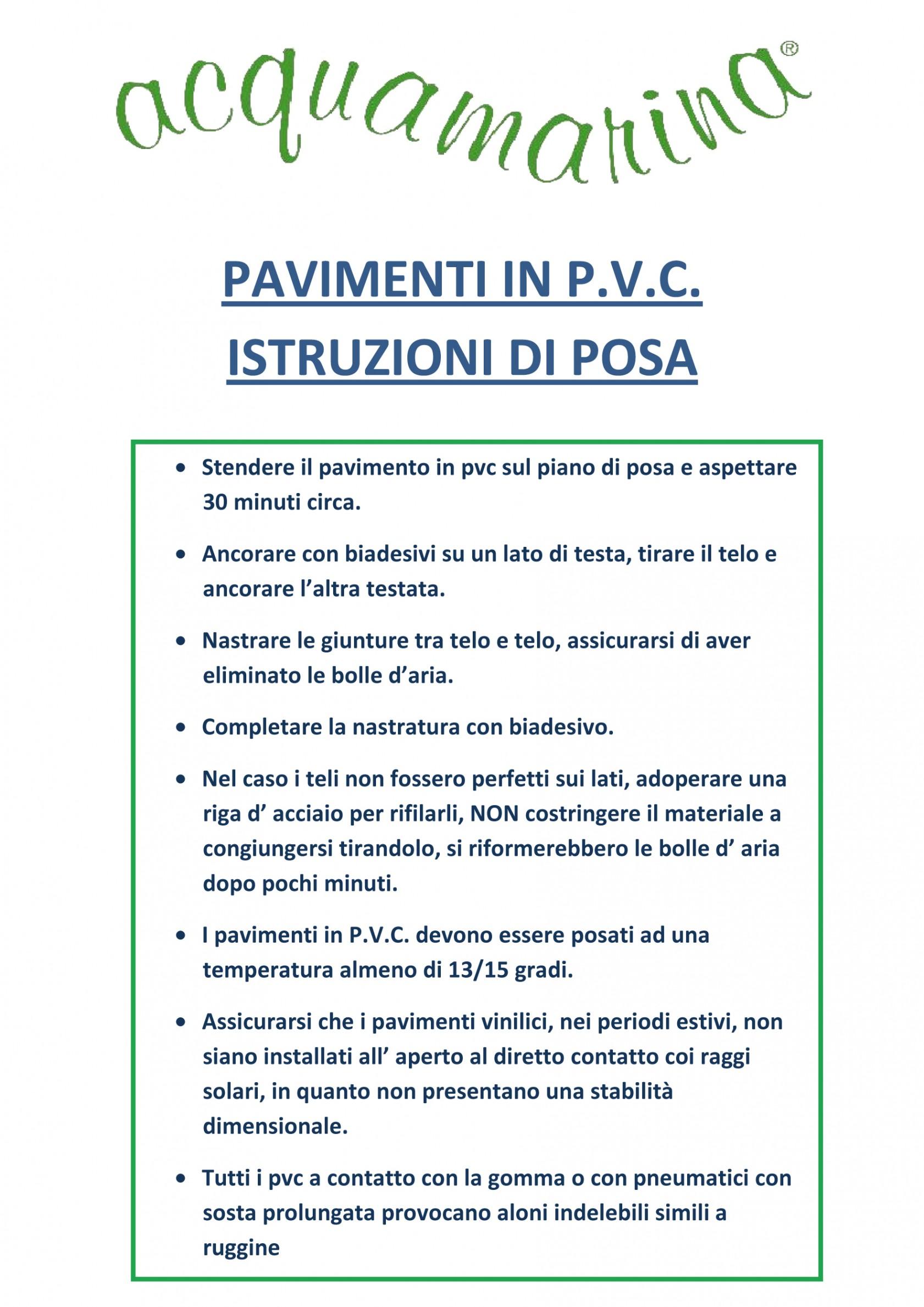 Istruzioni Di Posa Pavimenti In Pvc